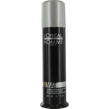 L'Oreal By L'Oreal Homme 4 Force Mat Matte Sculpting Pomade 2.7 Oz