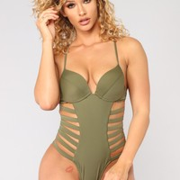Cruising Along Swimsuit - Olive
