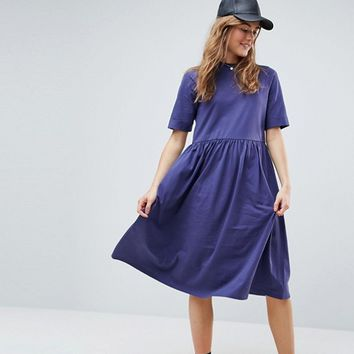 ASOS Midi Ultimate Cotton Smock Dress at asos.com