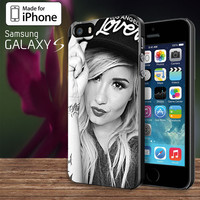 Demi Lovato hat  For Samsung Galaxy S3 / S4 and IPhone 4 / 4S / 5 / 5S / 5C Case