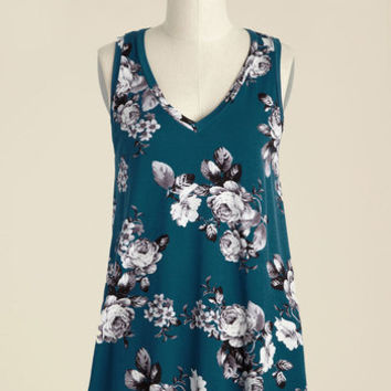 Infinite Options Tank Top in Cerulean | Mod Retro Vintage Short Sleeve Shirts | ModCloth.com