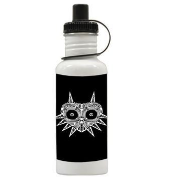 Gift Water Bottles | Sugar Skull Majora Mask Aluminum Water Bottles
