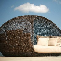 outdoor relaxation hut