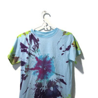 purple and blue tye dye t shirt kids size large