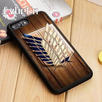 Cool Attack on Titan LvheCn  LEGION LOGO WOOD Phone Case Cover For iPhone 5 5s SE 6 6s 7 8 X Samsung Galaxy S6 S7 edge S8 S9 plus AT_90_11