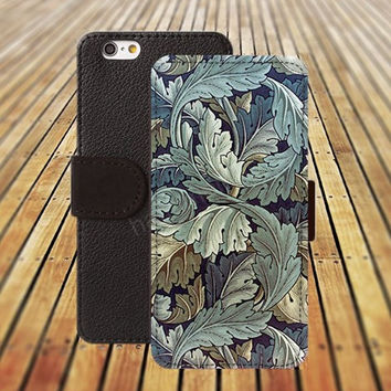 Classic leaves colorful iphone 5/ 5s iphone 4/ 4s iPhone 6 6 Plus iphone 5C Wallet Case , iPhone 5 Case, Cover, Cases colorful pattern L046