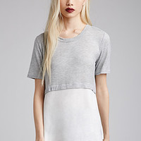 Heathered Layered Top