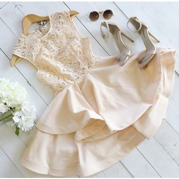 Runaway Beige Lace Dress