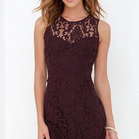 BB Dakota Gabby Plum Purple Lace Dress