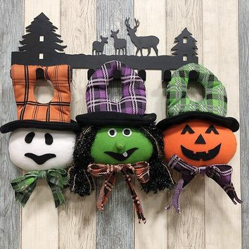 Halloween Party Decoration Supplies Hanging Pumpkin Witch Ghost Dolls Halloween Decor Drop Ornaments New Year Birthday Gift Toys