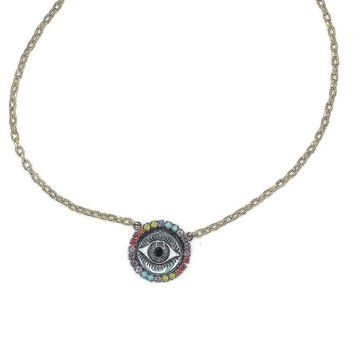 Riese Evil Eye Pendant Necklace
