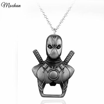 Deadpool Dead pool Taco MQCHUN Marvel   Bottle Opener Pendant Necklace Vintage  Mask Maxi Necklace For Movie Fans Best Gift AT_70_6