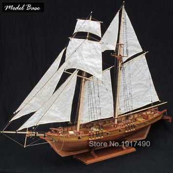 Wooden Ship Models Kits Educational Toy Model-Ship-Assembly  Model-Wood-Boats 3d Laser Cut Scale 1/50 HARVEY 1847 (2011 Edition)