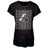 Purdue Boilermakers - Rhinestone Ray Logo Girls Juvy T-Shirt