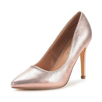 DREAM PAIRS Women's Christian-New High Heel Pump Shoes