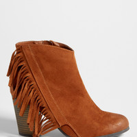 toni bootie with fringe in cognac | maurices