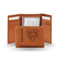 Chicago Bears NFL Tri-Fold Wallet (Pecan Cowhide)