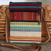 Boho Crossbody Festival Bag - Gheri Cotton - Handmade In Nepal