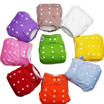 Sunny ju Reusable Baby Infant Nappy Cloth Diapers Soft Covers Baby Nappy Size Adjustable Training Pants Size Adjustable 9 Colors