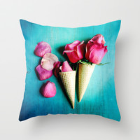 Double Date Throw Pillow by Olivia Joy StClaire