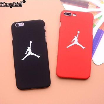 Smooth Feel Fundas Coque Case For iphone 7 7Plus 6 6S 6Plus SE 5 5s Case Basketball Hard PC Air Jordan Pattern Phone Cases Cover