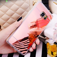 Electroplate Mirror Phone Case Cover for Samsung Galaxy Note 2 3 4 Note 5 N920 Note 7