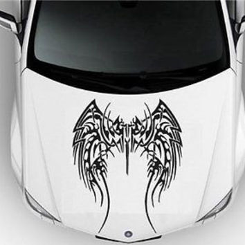 Hood Auto Car Vinyl Decal Stickers Abstract Tribal Tattoo Arm S7064