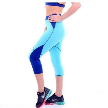 PEAPON 2017 New Summer Women Patchwork Capris Leggings Fitness Wear Workout Hot Sale 4 Colors
