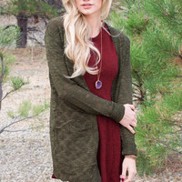 Muse Knit Cardigan - Olive