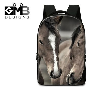 Cool Backpack school Fashion School Backpacks for Boys,Horse Printed Middle School Bags,Cool College laptop back pack,bookbag for Teenagers Mochila AT_52_3