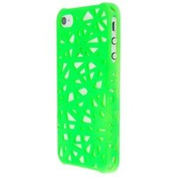 Worldshopping Snap-on Case Skin Cover compatible with Apple iPhone 4 / 4S (AT&T / Verizon), Green Bird Nest Rear