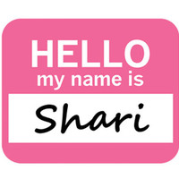 Shari Hello My Name Is Mouse Pad