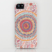 Sunflower Medallion iPhone & iPod Case by Janet Broxon