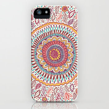 Sunflower Mandala iPhone & iPod Case by Janet Broxon