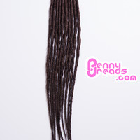 #33 Brown U-Tip Synthetic Dreadlocks (10 Pieces)
