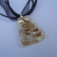 Real Fern Necklace/Pendant
