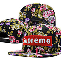 Supreme Floral Hat-Black