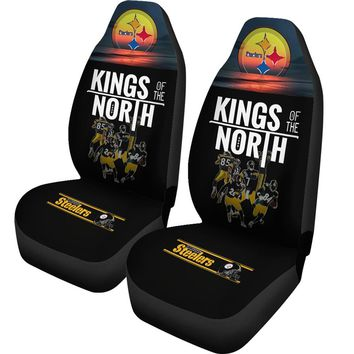 Pittsburgh Steelers Car Seat Covers 2pcs | Kings Of The North Seat Covers