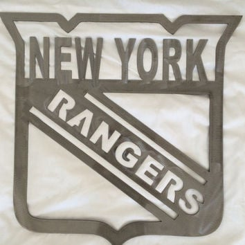 New york rangers metal art with clear powdercoating