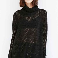 Kimchi Blue Piper Open-Stitch Turtleneck Sweater