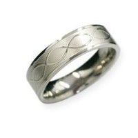 "Titanium ""Infinity Knot"" Wedding band or Promise ring ~ Sz 14"