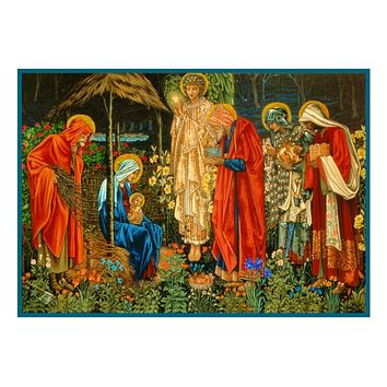 Adoration of The Magi by William Morris Counted Cross Stitch Pattern
