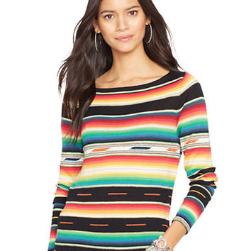 Lauren Ralph Lauren Petite Long Sleeved Serape Sweater