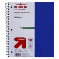 Notebook 100 ea Kids Back-to-college 8.5x11 Up & Up