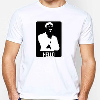 Ladies Ashens Hello Tribute FD Mens T-shirt Black and White