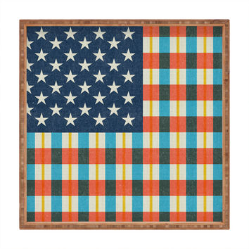 Nick Nelson Plaid Flag Square Tray