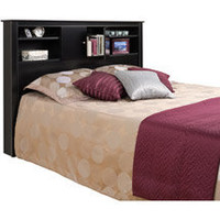 Walmart: Kallisto Full/Queen Bookcase Headboard with Doors, Black