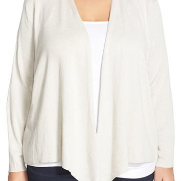Plus Size Women's NIC+ZOE 4-Way Convertible Cardigan,