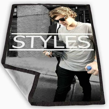 One Direction Styles Blanket for Kids Blanket, Fleece Blanket Cute and Awesome Blanket for your bedding, Blanket fleece **