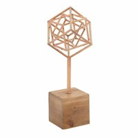 Innovative Metal Wood Copper Sculpture - 54720 by Benzara